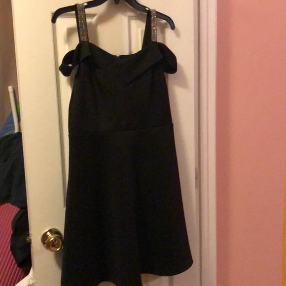 New Off The Shoulder Dress With Rhinestone Straps Poshmark